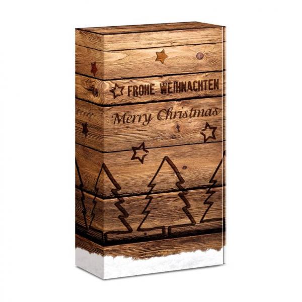 """""""Holzkiste Weihnachten"""" Präsentkarton 2er & 3er Weingeschenkkarton"""