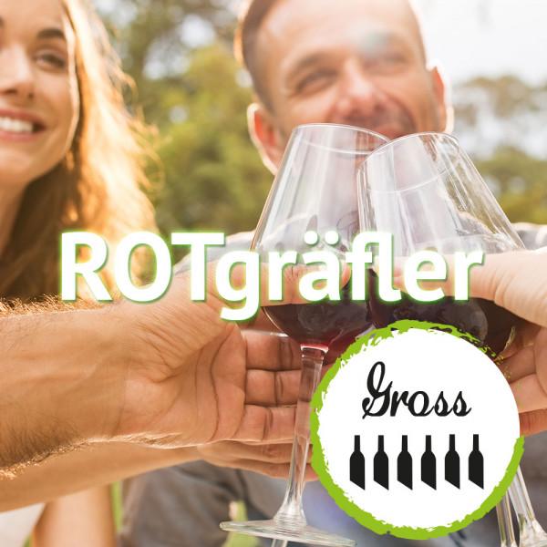 """Weinabo """"ROTgräfler"""" - Großes Monats Rotwein-Abo (6 x 0,75 L)"""