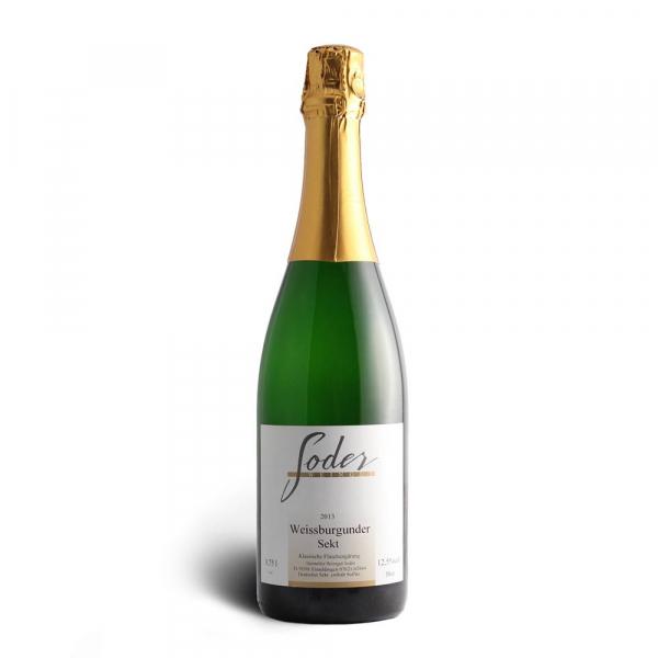 """Weißer Burgunder Sekt """"klassische Flaschengärung"""" 2014 - Weingut Soder"""
