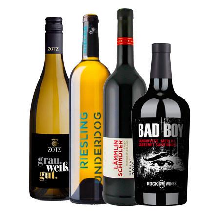 Firmen Online Weinproben Paket Herbst/Winter 2020/21 4er PREMIUM Weinpaket-