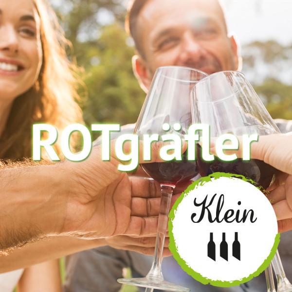 """Weinabo """"ROTgräfler"""" - Kleines Monats Rotwein-Abo, jederzeit kündbar"""