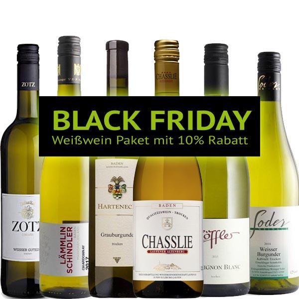 BLACK FRIDAY Weißwein Paket 2018 mit 10% Rabatt