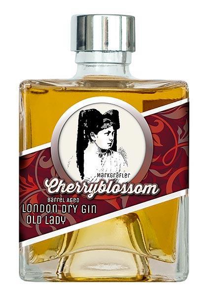 CherryblossomGin »Old Lady« - Eichenfass gereifter Dry Gin 45%