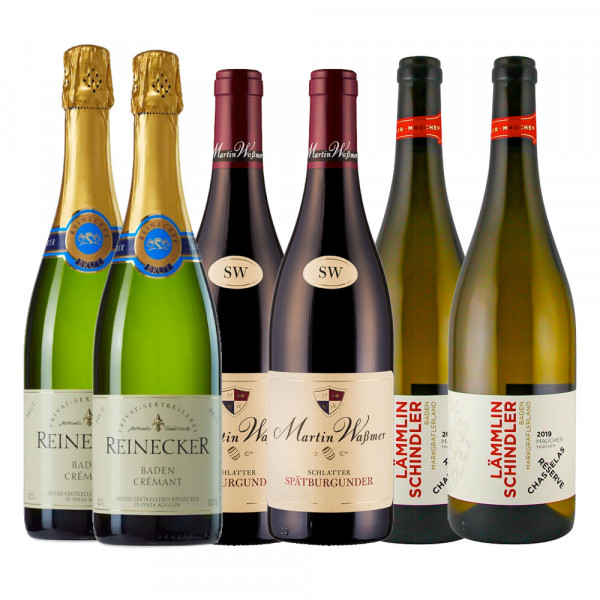 Festtags Weinpaket 2020 - 3 x 2 0,75L Markgräfler Spitzentröpfchen