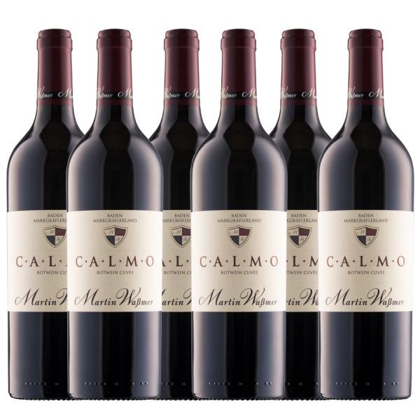 Calmo Martin Wassmer 6er Weinpaket Rotweincuèe CALMO 2016 trocken - Weingut Martin Waßmer - Versandk