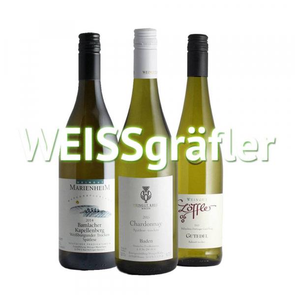 """Weinabo """"WEISSgräfler"""" - Kleines Monats Weißwein-Abo, jederzeit kündbar"""