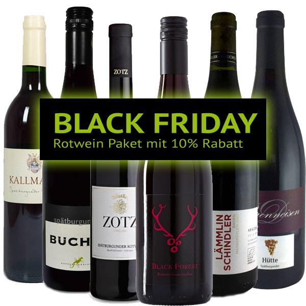 BLACK FRIDAY Rotwein Paket 2018 mit 10% Rabatt