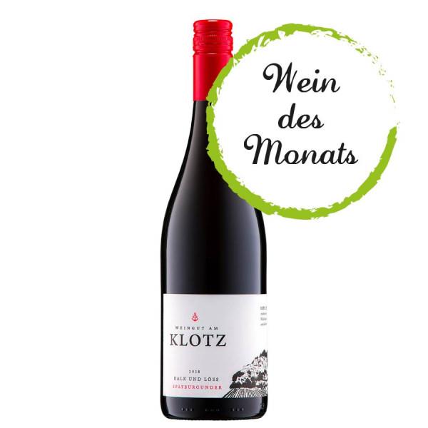 Kalk & Löss Spätburgunder trocken 2018 WEIN des MONATS 02/2021 - Weingut am Klotz