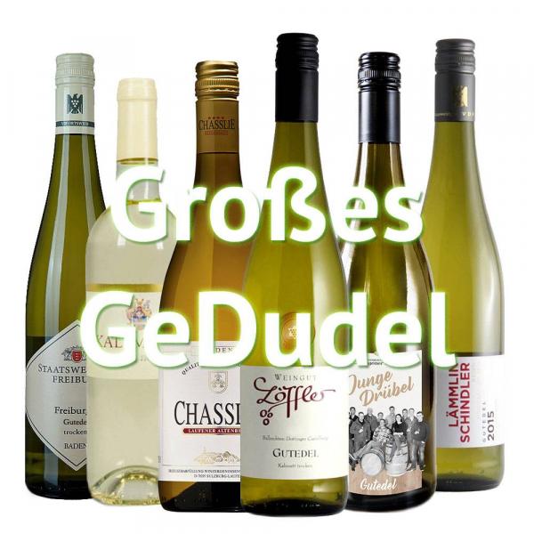 """Großes GeDudel"" - 6er Gutedel Weinabo - Bis zu 10% Black Friday Rabatt"