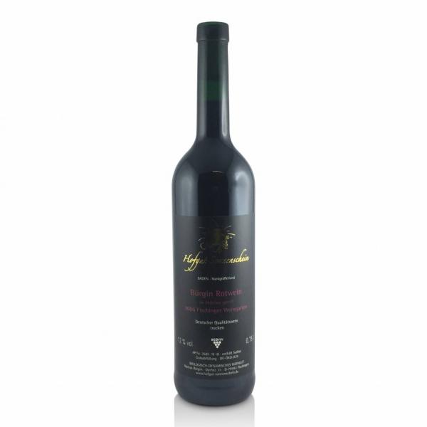 Bürgin Rotwein 2008 , Holzfass QbA trocken - Hofgut Sonnenschein - Biowein