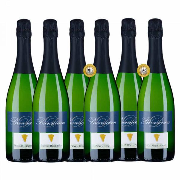 6er Siegerpaket - Meiningers Deutscher Sektpreis 2021 - Weingut Brenneisen