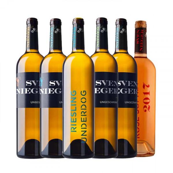 5 plus 1 UNDERDOG Wein Kennenlernpaket- Weingut Sven Nieger