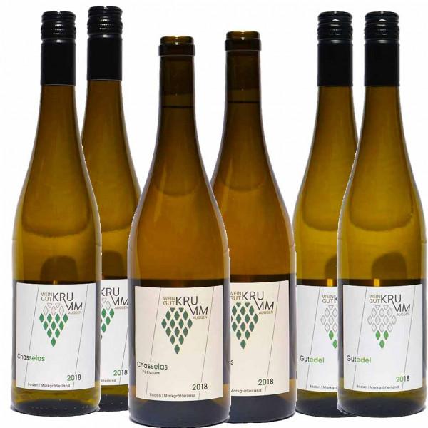 6er Gutedel/Chasselas Weinpaket - Weingut Krumm