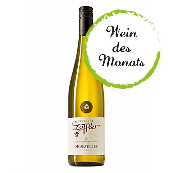 Muskateller Qualitätswein trocken 2019 WEIN des MONATS 6/2020 - Weingut Löffler