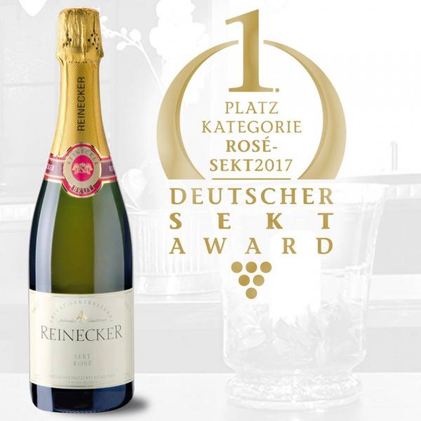 Rosé Sekt Brut - 3. Platz Deutscher Sektpreis 2019 - Privat-Sektkellerei Reinecker