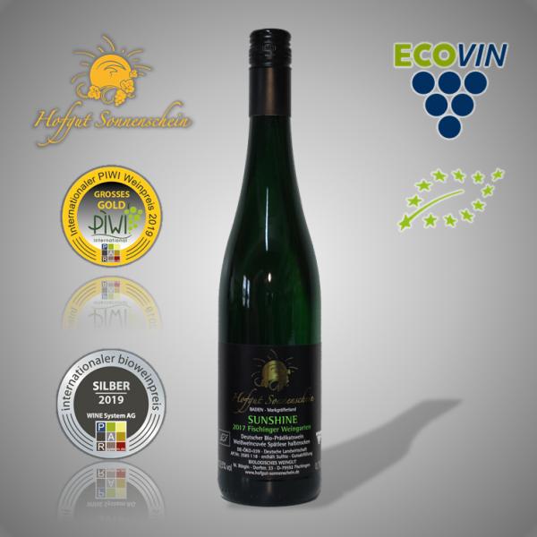 Sunshine Weißweincuvée Spätlese halbtrocken 2017- Hofgut Sonnenschein - Biowein