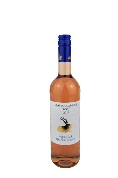 Spätburgunder Rosé halbtrocken 2017- Weingut Dr. Schneider