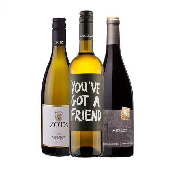 """Weinpaket II """"Markgräfler Online Weintalk"""" Q1 - 3 x 0,75 L für den 11.03.2021"""
