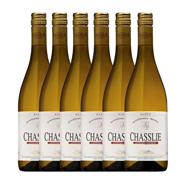 6 x Gutedel CHASSLIE, Qualitätswein, trocken