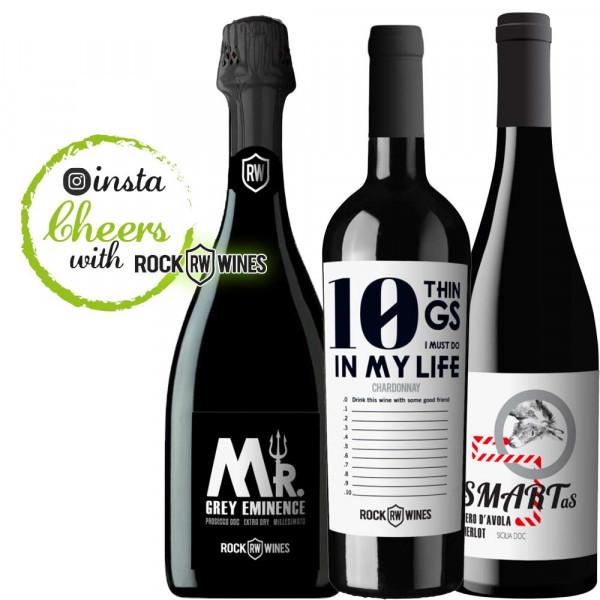 instaCHEERS Weinpaket 3 x 0,75 L - ROCK WINES