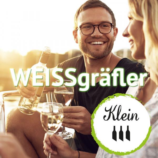 """Geschenk Jahres-Abo """"WEISSgräfler"""" - 4 x im Jahr 3 Flaschen bester Weißwein"""