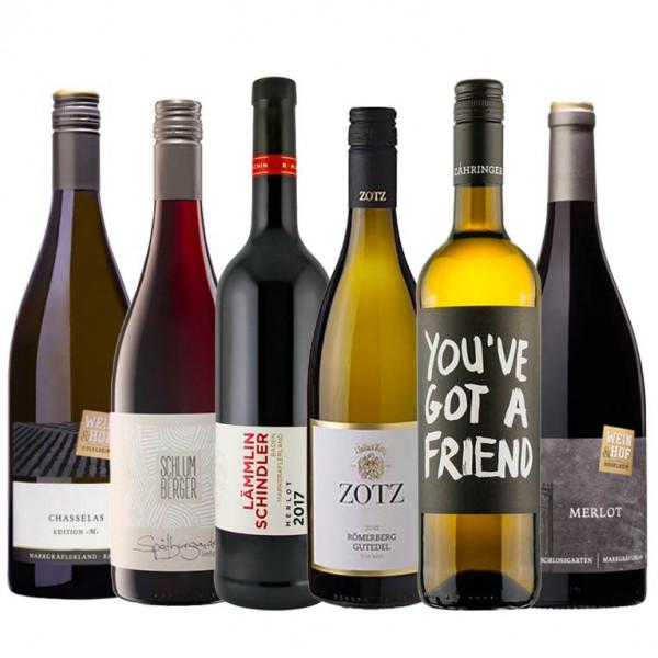 """Weinpaket """"Markgräfler Online Weintalk"""" Q1 - 6 x 0,75 L für beide Online Termine"""