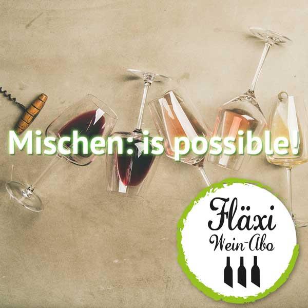 """FLÄXI Mix-Weinabo """"Mischen: is Possible"""" - Gemischtes Monats Wein Abo"""