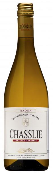 Gutedel CHASSLIE, Qualitätswein, trocken 2019 - 87.5 Pt. SILBER Mondial du Chasselas - Laufener Alte