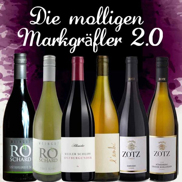 """6er Weinpaket """"Die molligen Markgräfler 2.0"""" zur Online Weinprobe am 21.11.2019"""