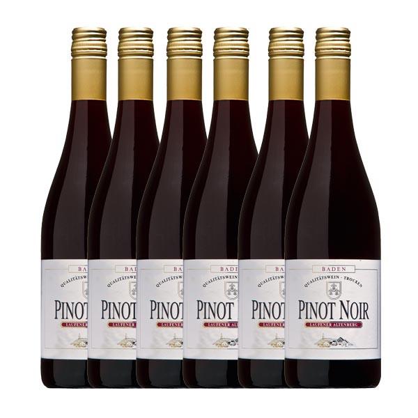 6 x Pinot Noir Rotwein 2015, Qualitätswein, trocken BLACK FRIDAY 20% Rabatt