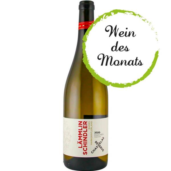 """Chasselas """"Réserve"""" tr. 2020 VDP. ORTSWEIN des Monats 06/20212 - VDP Weingut Lämmlin-Schindler - Bio"""