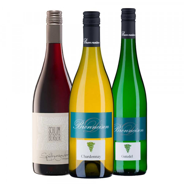 """Firmen Online Weinproben Paket """"Markgräfler 3er Basis Weinpaket"""""""