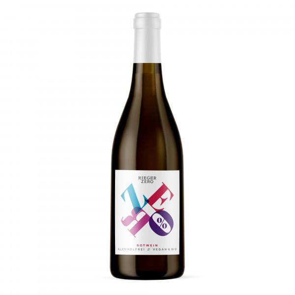 ZERO Rotwein alkoholfrei / vegan - Weingut Rieger - Biowein
