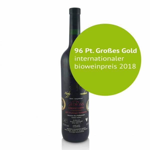 MB66 Cabernet Cortis 2015 , Barrique Auslese trocken - Hofgut Sonnenschein - Biowein