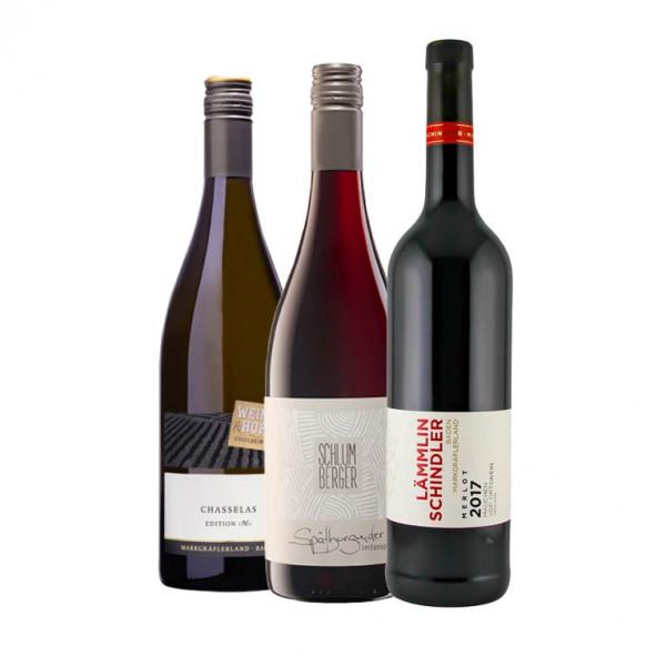 """Weinpaket """"Markgräfler Online Weintalk"""" Q1 - 3 x 0,75 L für den 04.02.2021"""